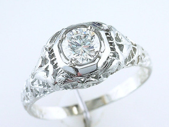 Vintage diamond trilogy twist ring 18 carat gold /& platinum 1960 size N 3.1grams
