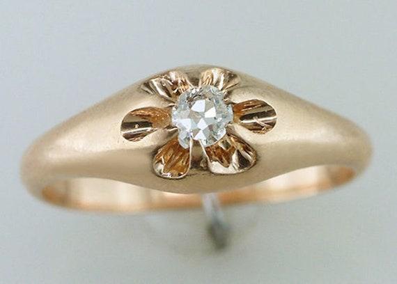 838c990bf3c68 Antique Vintage Diamond Engagement Ring 14K Yellow Gold Victorian