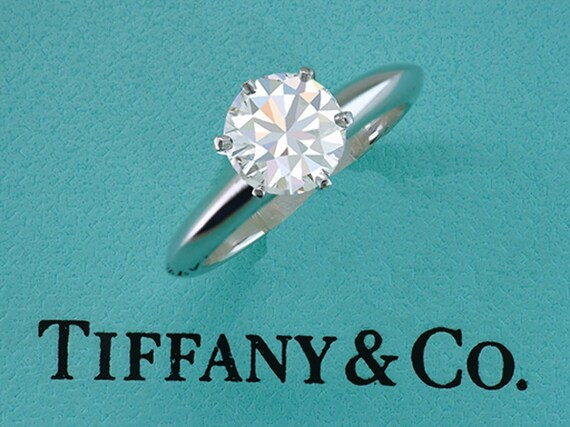 Diamond Certified 54ct Solitaire Gia Tiffanyamp; Platinum Engagement Ring Co 1 gbyYf67