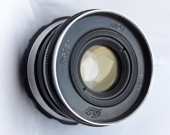 Vintage Tested Soviet lens Industar 61 Petals-10 M39 for FED, Zorki, Leica, Camera USSR 2,8/52, Good Bokeh!