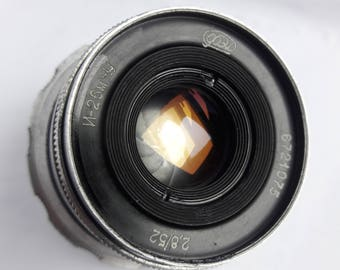 Vintage Tested Soviet lens Industar 26m-U M39 Petals- 10 +cap for FED, Zorki, Leica, Camera USSR 2,8/52, Good Bokeh!