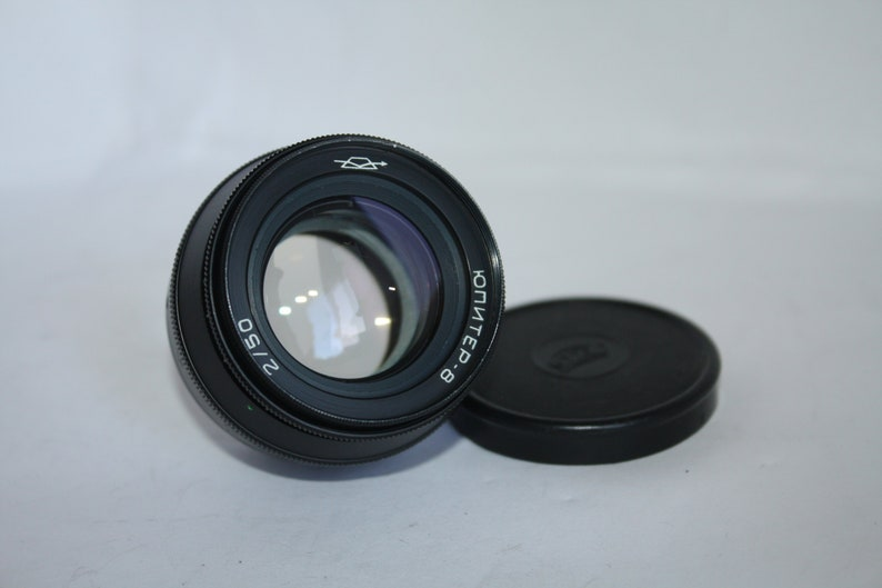 Vintage Tested Soviet Black Jupiter 8 2/50 lens M39 9 blades for FED,  Zorki, Leica, Camera USSR, King of bokeh, Rare lens , Vintage photo