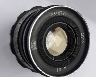 Vintage Tested Soviet lens Industar 61 M39 for FED, Zorki, Leica, Camera USSR 2,8/53, Good Bokeh!