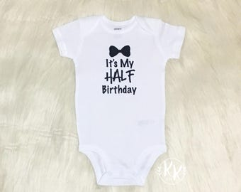 Boys Half Birthday Shirt Boy Its My Personalized