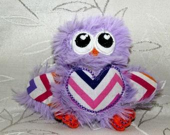 In The Hoop ITH OWL Stuffie Stuffed Animal 5x7 4x4