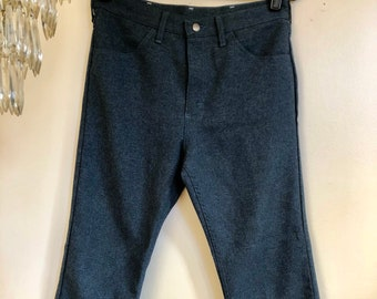 b47c31cd Vintage Wrangler Boot Cut Pants // Men's Stretch Polyester 70s Trousers //  33 34 35