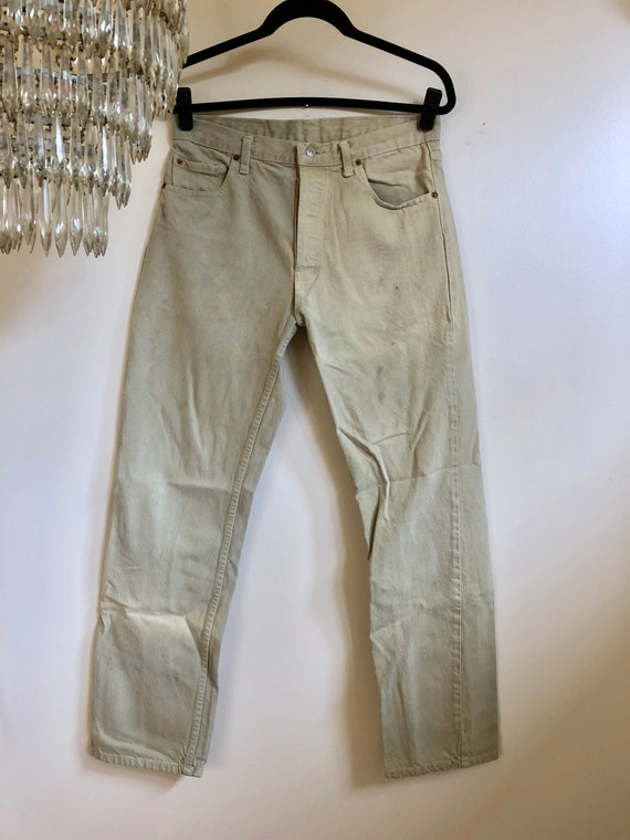S Rouge Beige 501 Pantalon Vintage Etsy Tan Levi Languette fvnOxZqR