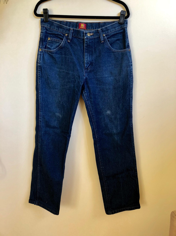 45cce341 Vintage Classic Blue Men's Wrangler Jeans // Straight Leg | Etsy