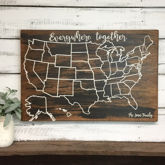 Personalized Us Travel Map Travel Map US Wood Map USA Travel Map Personalized Pin | Etsy