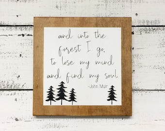 And into the forest I go wood sign   Travel Theme Decor   Adventure Nursery Decoration   Travel lover gift   National Park travel