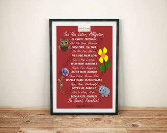 image regarding See You Later Alligator Poem Printable called Look at yourself later on alligator printable Etsy