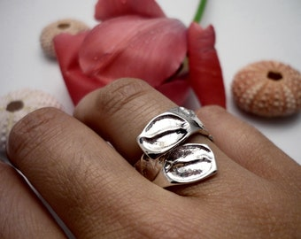 Silver adjustable ring, adjustable sterling silver ring, sterling silver ring, silver ring, silver womens ring, womens ring