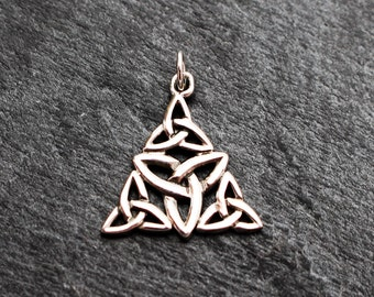 Celtic Knot Triquetra Trinity Pendant -  Sterling Silver, Charm