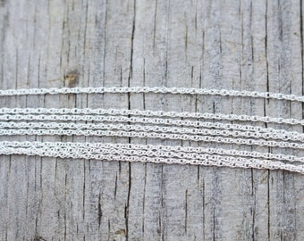 """20 Inch, Sterling Silver Chain, Silver Chain, 20 inch Chain, 20"""", Long Chain, Long Silver Chain, Delicate Chain, Silver Chain 20 Inch"""
