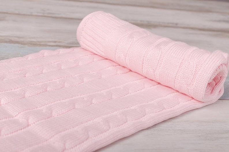 Pram Blanket Pink BabyBlanket OEKO-TEX\u00ae