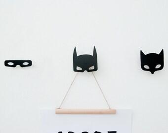 Set of 3 super heros wall hooks