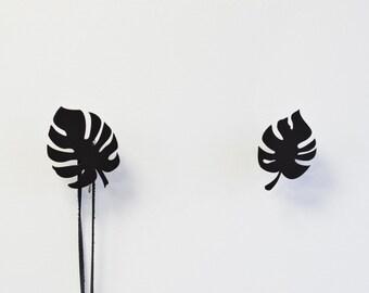 Monstera Wall Hook, Scandinavian Wall Hanging, Minimalist Design
