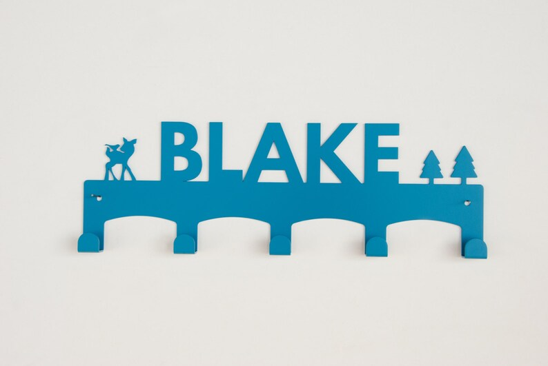 Personalized Gift For Kids Nursery Wall Hooks Child Coat Rack Baby Shower Gift Blake Boy Gifts Kid Hooks