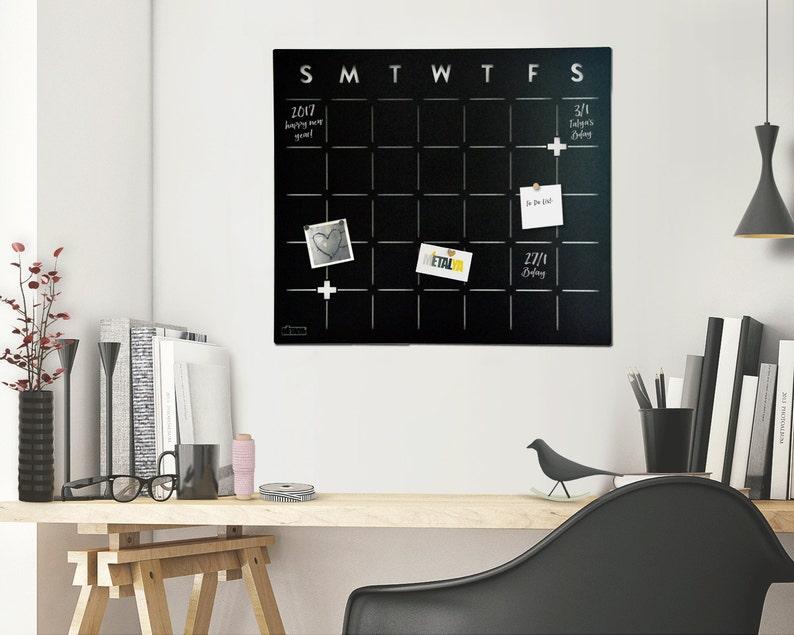 Monthly Planner Chalkboard Calendar Magnetic planner image 0