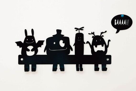 Kinder Wandhaken Monster Garderobe Kinder Wand Aufhängen | Etsy