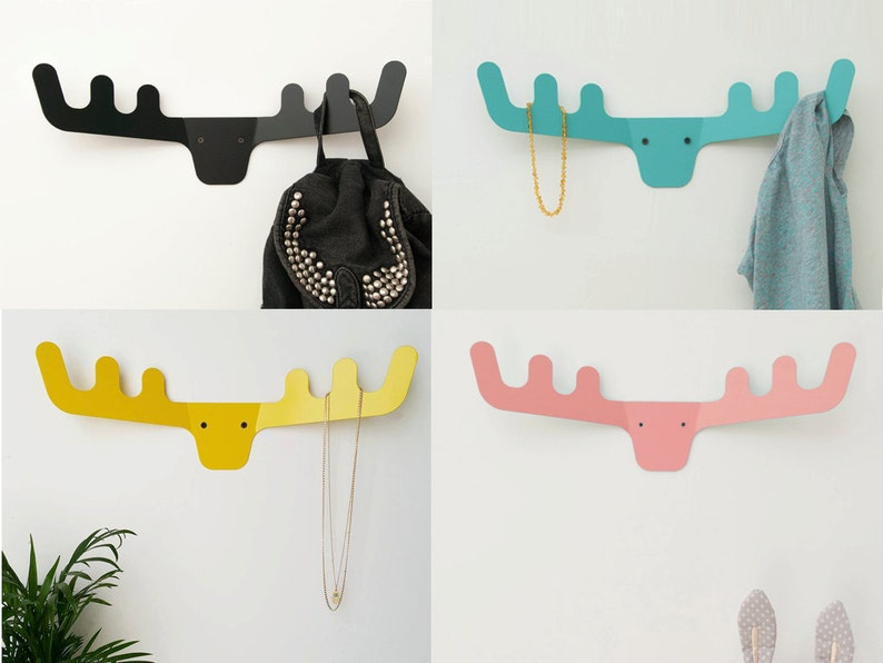 Coat Rack / Faux Deer Head / Modern Coat Hanger / Wall Decor / image 0