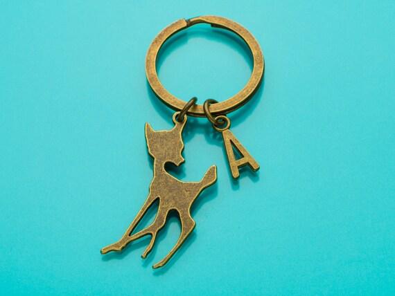 5c1cd19cc4b4 Cerf porte-clés porte-clés Bronze cerf cerf Silhouette   Etsy