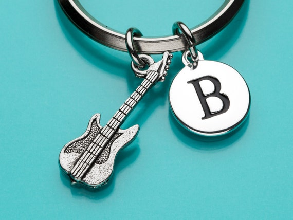 Electric Guitar Keychain Electric Guitar Key Ring Musical Etsy