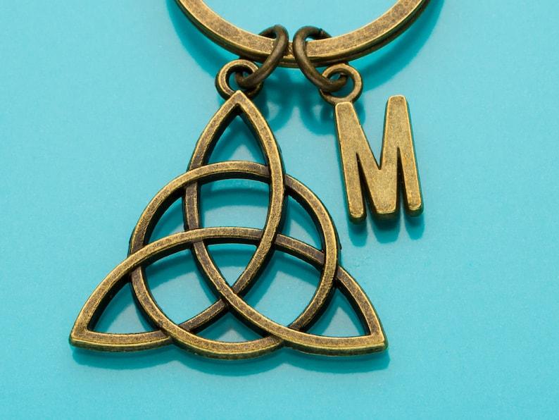 Personalized Keychain Charm Keychain Celtic Knot Keychain Bronze Celtic Knot Key Ring 576 Custom Keychain Irish Knot Initial Keychain