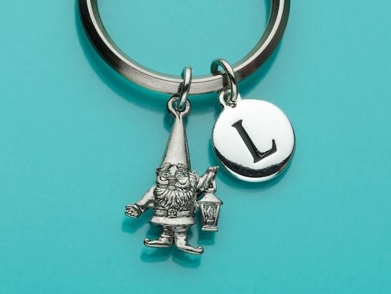 Gnome bag accessory Housewarming gift Gnome keyholder Miniature crochet  gnome keychain