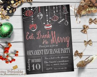 Ornament Exchange Invitation / Digital Printable Invite / DIY Christmas Party