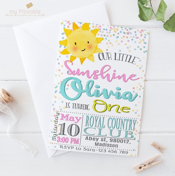 picture regarding You Are My Sunshine Free Printable identified as Oneself Are My Solar Birthday Invitation / Electronic Printable Birthday Invite for Young children