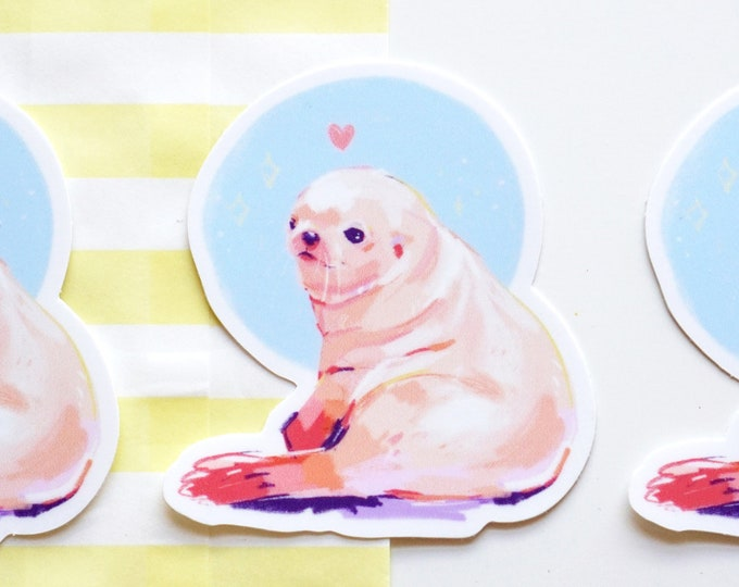Seal Pup Vinyl Sticker
