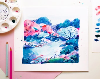 Original Art - Blue Landscape