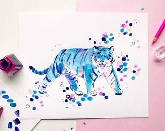 Original Art - Blue Tiger