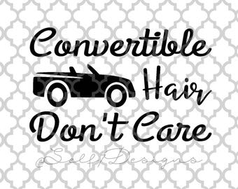 Beach Hair Don T Care Svg Png Dxf Silhouette Design Etsy