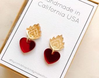 1f09a1a63660 Pink concha earrings Mexican sweet bread pan dulce