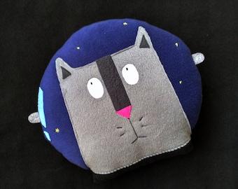 Cat Pillow Astronaut, Funny Pet Cushion, throw pillow