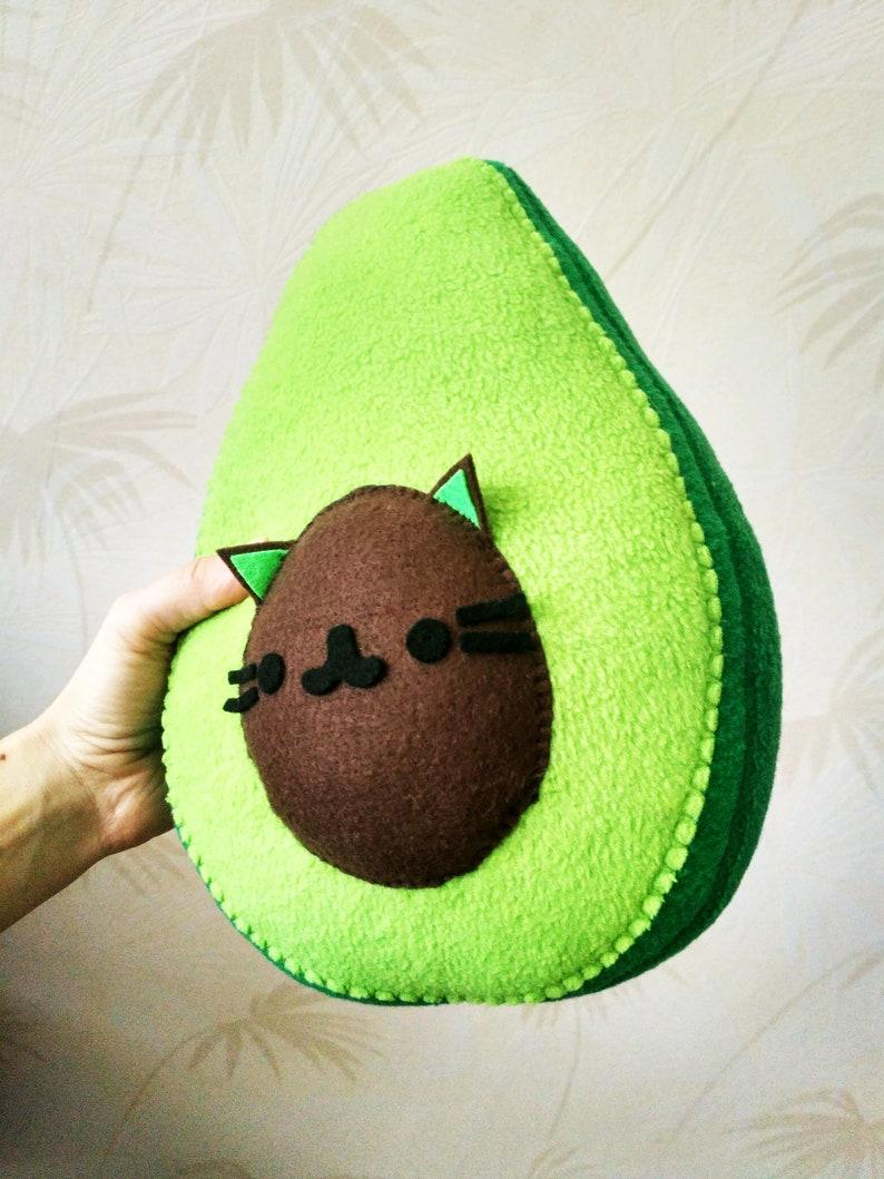 Avocado Plush-AvoCATo Pillow Small Pillow  image 0