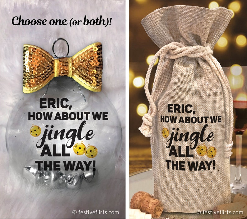Personalized Jingle All The Way Funny Ornament Handmade  image 0