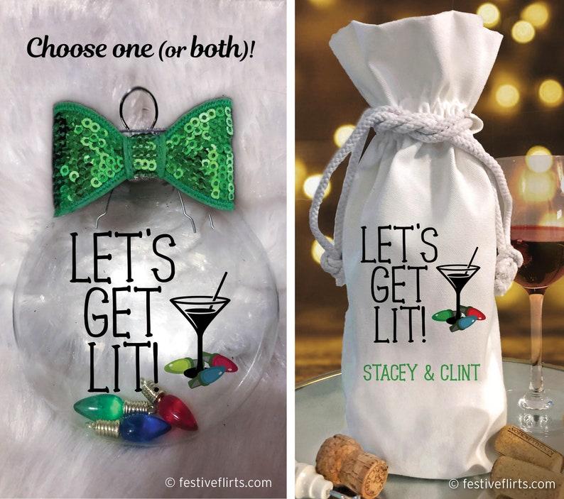 Let's Get Lit Christmas Lights Funny Ornament   Christmas image 0
