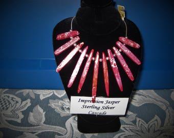 Impression Jasper Cascade Sterling Silver Necklace, Item #2212.