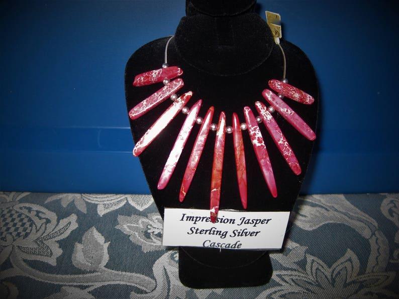Impression Jasper Cascade Sterling Silver Necklace Item image 0