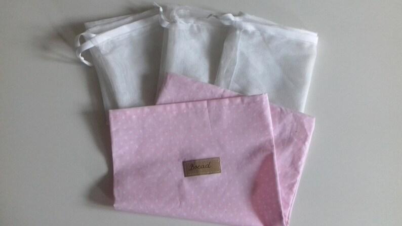 Reusable drawstring produce bags BREAD bag