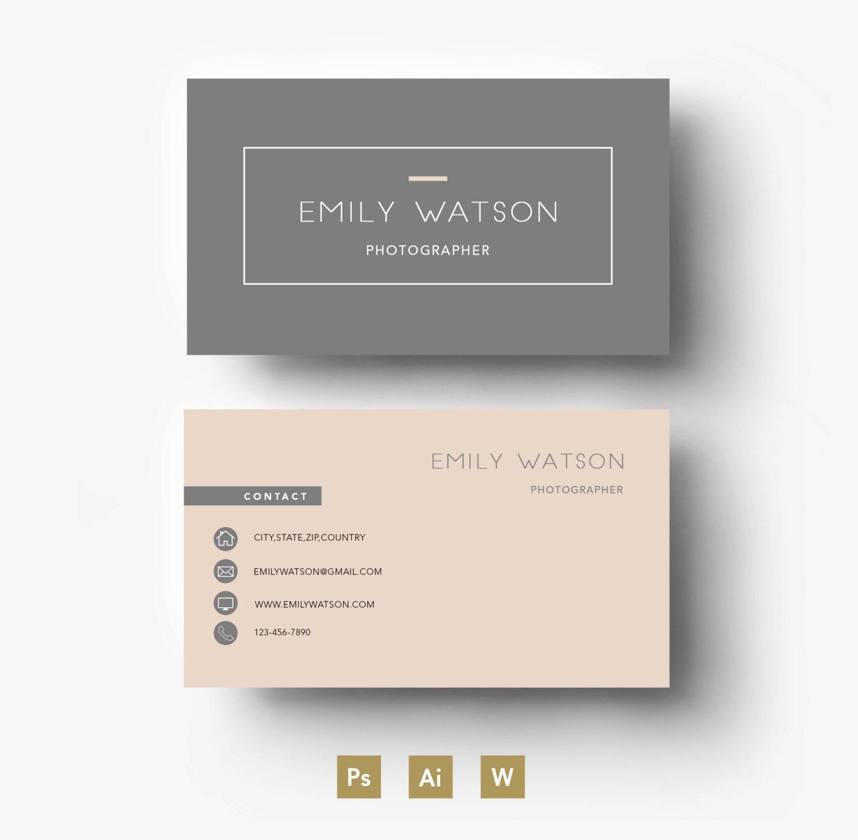 Plantilla de tarjeta de visita / fácil plantilla PSD editable | Etsy