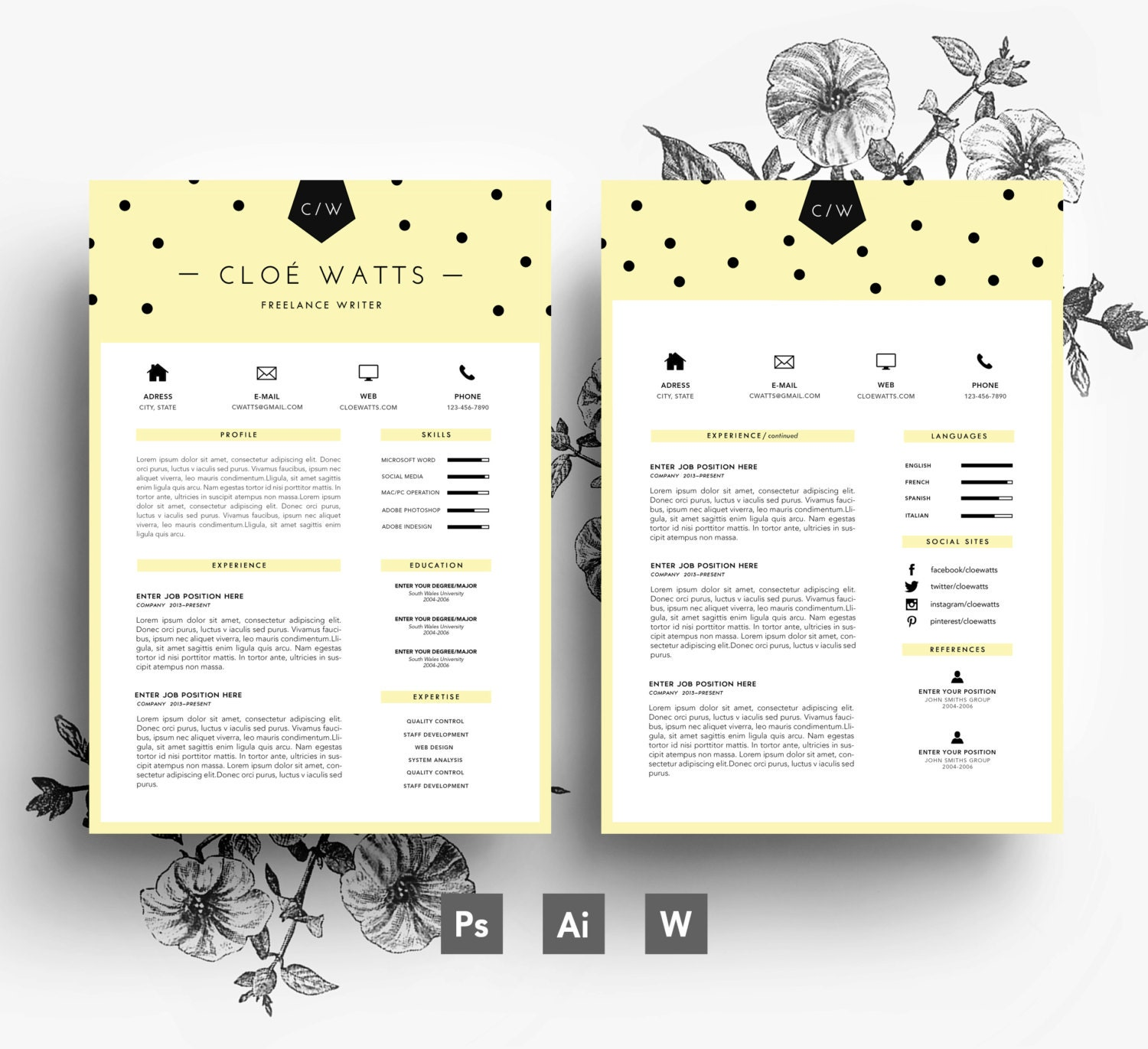 cv lettre de motivation carte de visite    3 page cv    easy