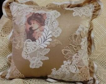 Stunning Ribbon and Lace Decorator Cushion
