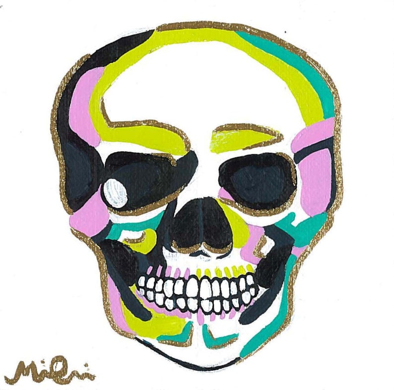 Pop Art Drawing Of Head With Different Colors
