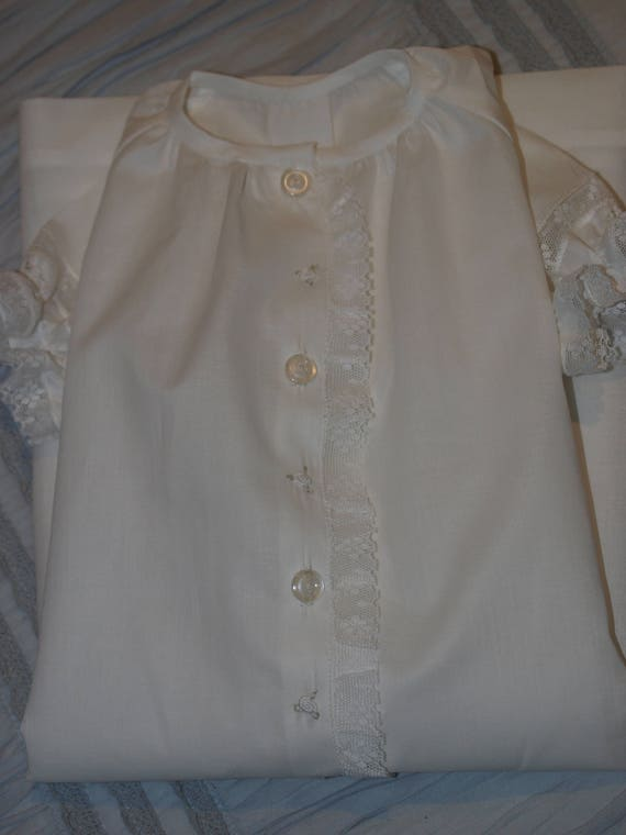ef3b9864cee7 Hand Embroidered White Cotton Voile Classic Baby Nightgown