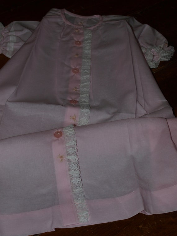 40115271266d Hand Embroidered Pink Cotton Voile Classic Baby Nightgown