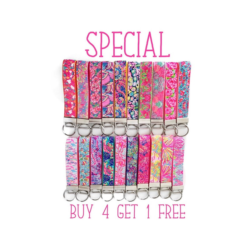 Exceptionnel Lilly Pulitzer Key Fob (35 Different Prints), First Impression, Exotic  Garden, Lilly Pulitzer Wristlet, Lets Cha Cha, Rose Gold Clips, Mini